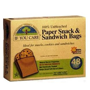 If You Care unbleached paper sandwich bags 48 bags - Click Image to Close