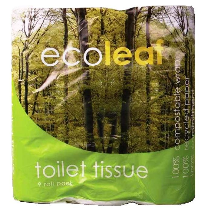 Ecoleaf Recycled Toilet Tissue 9 roll pack